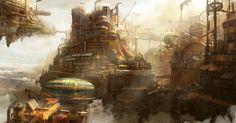 steampunk concept by TylerEdlinArt on deviantART