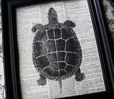 Easy DIY Art - put newsprint through the printer with a b&w image... or any paper, really! (maps, patterned paper...)