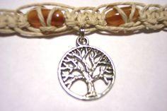 hemp necklace hemp choker tree of life hemp jewelry. $10.00, via Etsy.