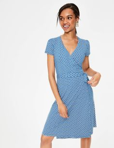 Summer Wrap Dress J0183 Smart Day at Boden