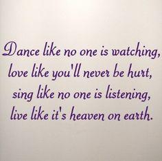 dance, love, sing, live <3