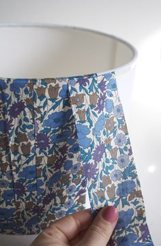 make your own fabric covered lampshade