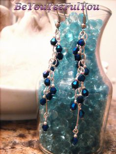 Beautiful Metalic Blue Chainmaille Swarovski by BeYouTeeFulYou