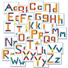 free alphabet pattern block printables