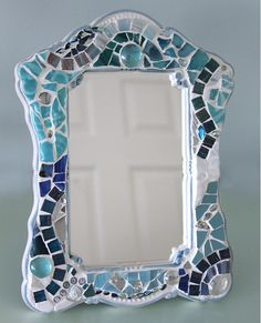 CustomMade Mosaic Mirror by SecondLookMosaics on Etsy