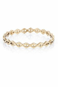 Low Luv by Erin Wasson Triangle Stack Bangle in Gold