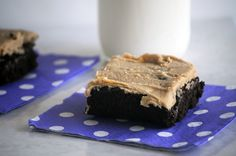Peanut Butter Frosted Brownies for #Sundaysupper