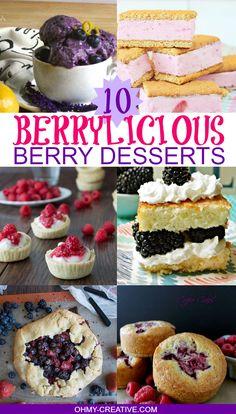 10 Berrylicious Berry Desserts  |  OHMY-CREATIVE.COM