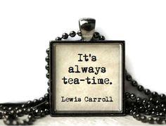tea time, time quot, wonderland quot, jewelri quot, resin