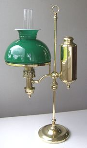 Victorian Queen's Reading Oil Lamp