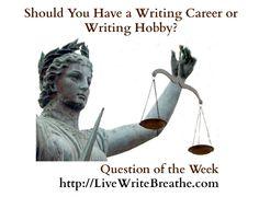 Should You Have a Writing Career or Writing Hobby via @janalynvoigt | LiveWriteBreathe