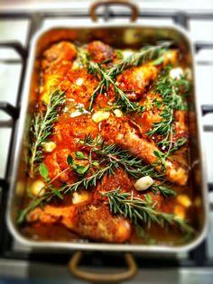 paprika, garlic and rosemary chicken