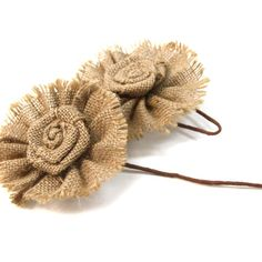 David Tutera Casual Elegance - Burlap Floral Picks [327-DT9080 2PC Floral Picks] $8.70 from Koyal Wholesale