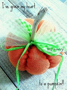 Make this pumpkin from a t-shirt www.diybeautify.com