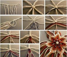 How to knit lovely flowers - #art, #diy, Crafts