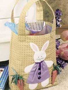 craft, bunni bag, bunni tote, easter bunni, easter bunny, tote bags, sewing accessories, bag patterns, sewing patterns