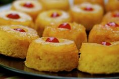 Mini pineapple upside-down cakes! These are sooo easy to make and are a big hit at parties!