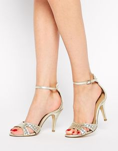 Gold Heels (and they come in wide fit!)