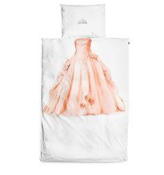 Princess gown duvet and crown pillowcase | Snurf
