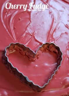 Cherry Fudge!  2 ingredients, crazy easy, perfect for Valentine's Day