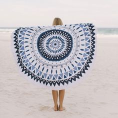 The Majorelle | The Beach People. Killer round towels.