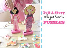 Tell a Story with your Puzzle {My girls were just doing this same things this afternoon! }