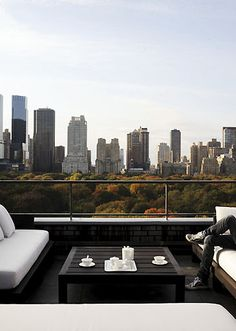Cannot tell you how much I want to be on this terrace overlooking Central Park!