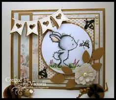 Bunny & Bee ~ Wild Rose Studio