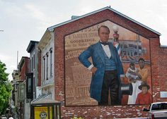 William C. Goodridge  Mural, next to the Penn St. Market House, York, Pennsylvania. He was active in the Underground Railroad before the Civil War
