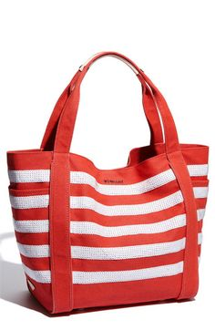 Red and White Striped tote - Seuss Style M Z Wallace 'Ava' Canvas Tote