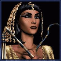 Cleopatra.  Commited suicide in 31BC.  Egypt was then run by the Romans.