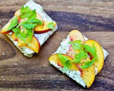 Peaches + goat cheese