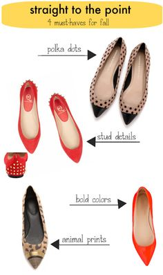 4 Must-Have Pointy Toe Flats for Fall