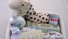 » SMALL NEW BORN BABY GIFT BASKET (with Simple Baby Skincare products)