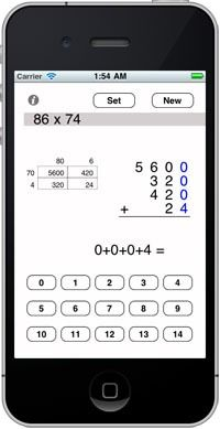 My favorite way of teaching long multiplication has an app.