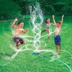 I use to play in the sprinklers all the time in the summer when I was little :)   This photo is a great example of movement!