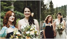 The wildflower bouquets and rustic details were fitting for a wedding in the High Sierras. Makeup and hair by Lexie Lazear Designs.