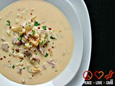 Peace, Love, and Low Carb: Smoked Sausage, Cheddar Beer Soup - Low Carb, Gluten Free, Primal   #lowcarb #soup #crockpot #slowcooker #recipe #glutenfree