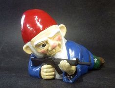 Hey, I found this really awesome Etsy listing at https://www.etsy.com/listing/108691280/combat-garden-gnome-in-prone-position