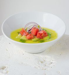 Yellow Tomato Gazpacho, and 5 other delicious chilled soup recipes to beat the heat.