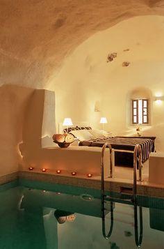 bedroom with indoor pool