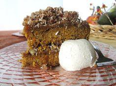 Raw Pumpkin Apple Streusel Coffee Cake