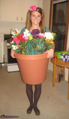 Flower Pot Costume - Halloween Costume Contest via @costumeworks