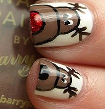 Christmas Nail Polish Manicures. I wish I had a million hands ¸.•♥•.  www.pinterest.com/WhoLoves/Christmas  ¸.•♥•.¸¸¸ツ #Christmas #nailart