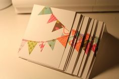 bunting banner cards