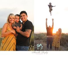family photography at the beach. Boy being tossed in the hair