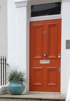 back doors, color combos, burnt orange door, front doors, orange front door