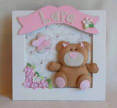 Quadro Porta Maternidade Ursa   Sonho e Arte   1A06F3 - Elo7