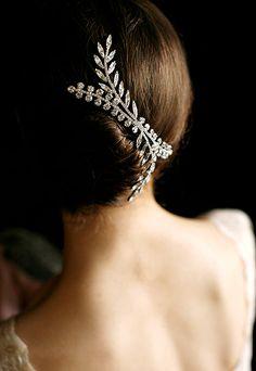 Jennifer Behr made with crystals from Swarovski www.swarovski-elements.com/wedding
