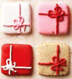 Love the Decorations! | Pretty Package Christmas Cookies | @Abigail Phillips Regan Truax://www.stylishtrendy.com